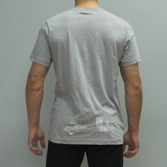 Pocket Tee Light Grey Back