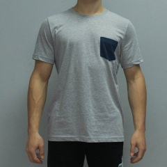 Pocket Tee light grey front